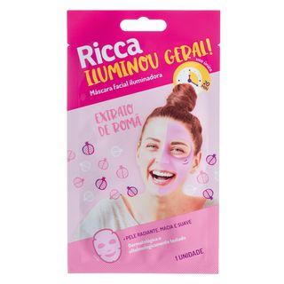 Máscara Facial Iluminadora Ricca - Iliminou Geral Total! 1 Un