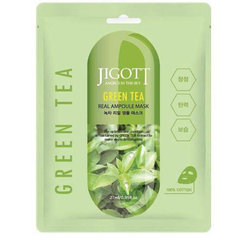 Máscara Facial Jigott Green Tea Real Ampoule Mask