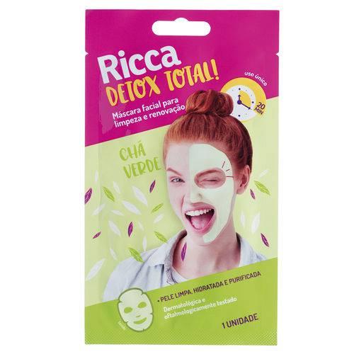 Máscara Facial Limpeza e Renovação Detox Total! Ricca
