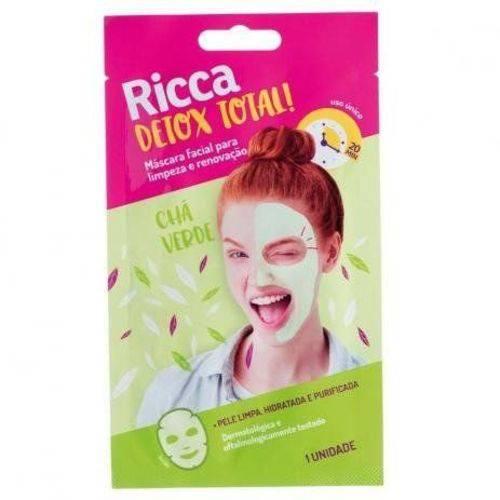 Máscara Facial Limpeza e Renovação Ricca Detox Total!