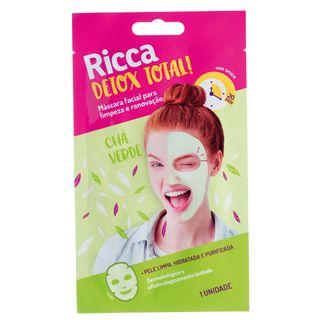 Máscara Facial Limpeza Ricca - Detox Total! 1 Un