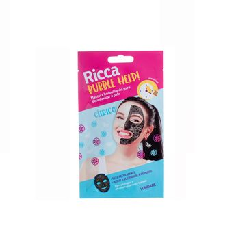 Máscara Borbulhante Riccca para Desentoxicar a Pele Ricca 1 Unidade