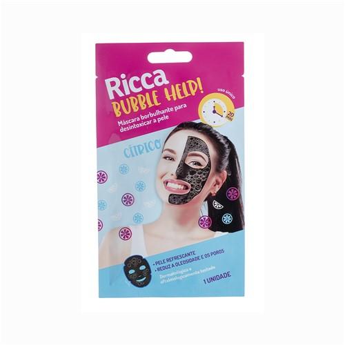 Máscara Facial Ricca Borbulhante para Desintoxicar a Pele