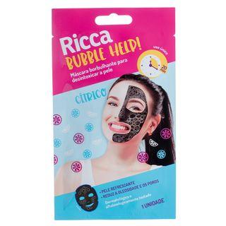 Máscara Facial Ricca - Bubble Help! 1 Un