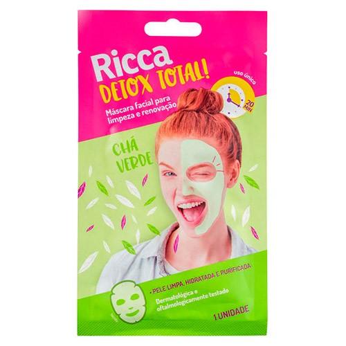 Máscara Facial Ricca Limpeza e Renovação Detox Total! 25g