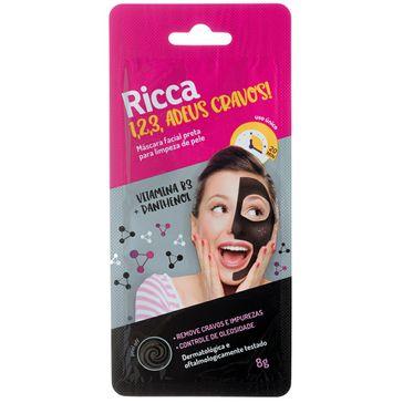 Máscara Facial Ricca Preta Limpeza de Pele 8g