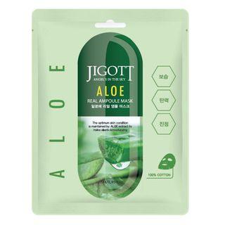 Máscara Facial Sisi Cosméticos -Jigott Aloe Real Ampoule Mask 1 Un