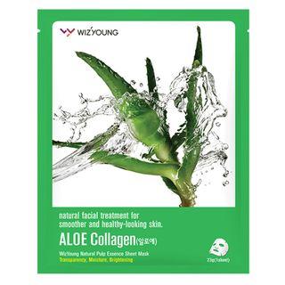 Máscara Facial Sisi Cosméticos -Wizyoung Aloe Collagen 1 Un