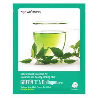 Máscara Facial Sisi Cosméticos -Wizyoung Green Tea Collagen 1 Un