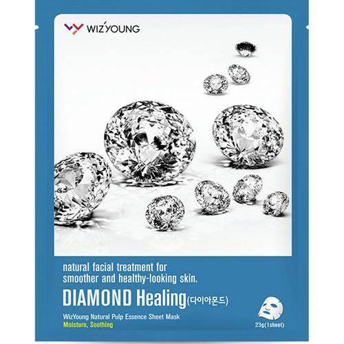 Máscara Facial Wizyoung Diamond Collagen Essence Mask Pack