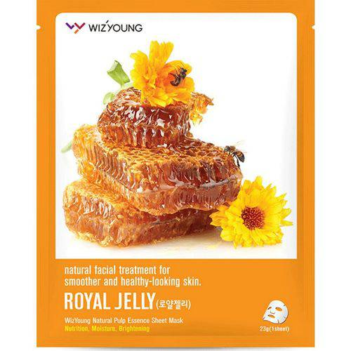 Máscara Facial Wizyoung Royal Jelly Collagen Essence Mask Pack