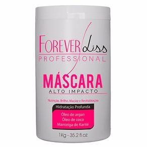 Máscara Forever Liss Professional Alto Impacto de Hidratação 1000g