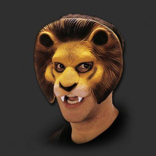 Máscara Leão Fantasia Carnaval Cosplay Látex Spook