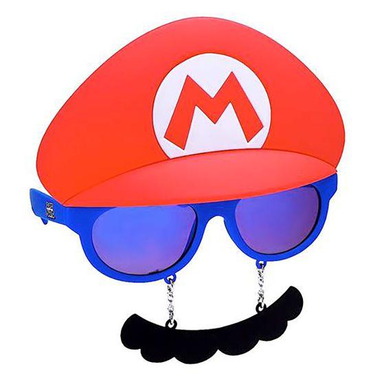 Máscara Óculos Mario Bros