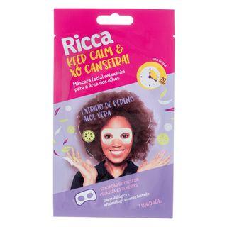 Máscara para Área dos Olhos Ricca - Keep Calm And Xô Canseira! 1 Un