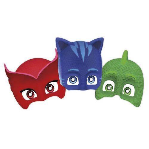 Máscara PJ Masks Regina Festas 6 Unidades
