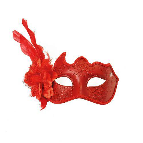 Máscara Veneziana Flor Vermelha - Cromus