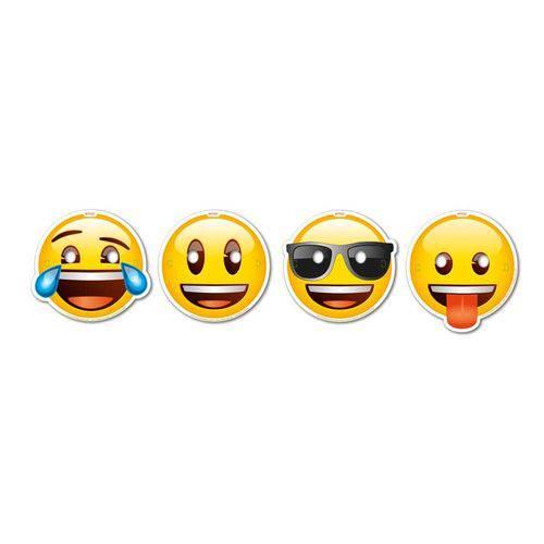 Máscaras Emoji 08 Unidades Festcolor