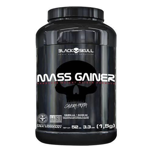 Mass Gainer - 1500g - Black Skull / Caveira Preta - Sabor Baunilha