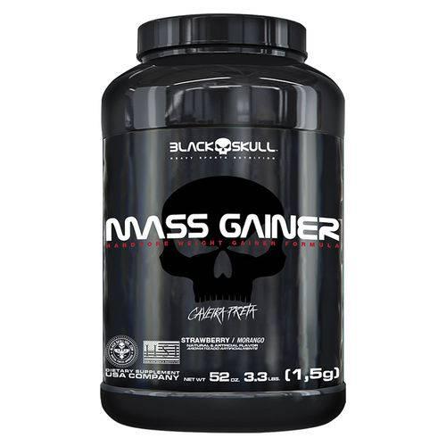 Mass Gainer - 1500g - Black Skull / Caveira Preta - Sabor Morango