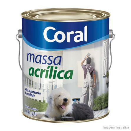 Massa Acrílica Corrida Coraplus 3,6 Litros Branco Coral