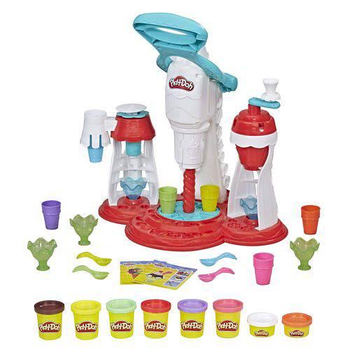 Massa de Modelar - Play-doh - Kitchen Creations - Máquina de Sorvete - Hasbro