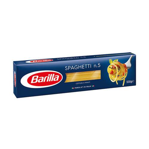 Massa Grano Duro Spaghetti Nº 5 Barilla 500 G