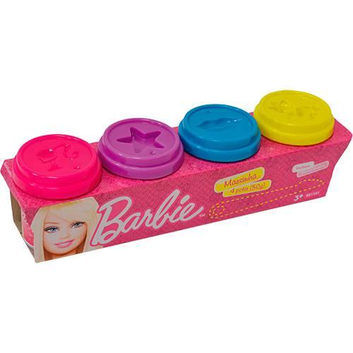 Massinha Barbie 4 Potes 50g - Fun