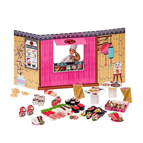 Massinha de Modelar Barbie Comidas Japonesas Fun Rosa