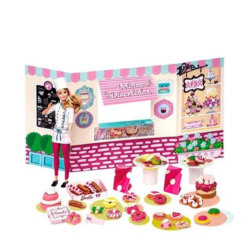 Massinha de Modelar Barbie Doceria e Delícias Fun Rosa