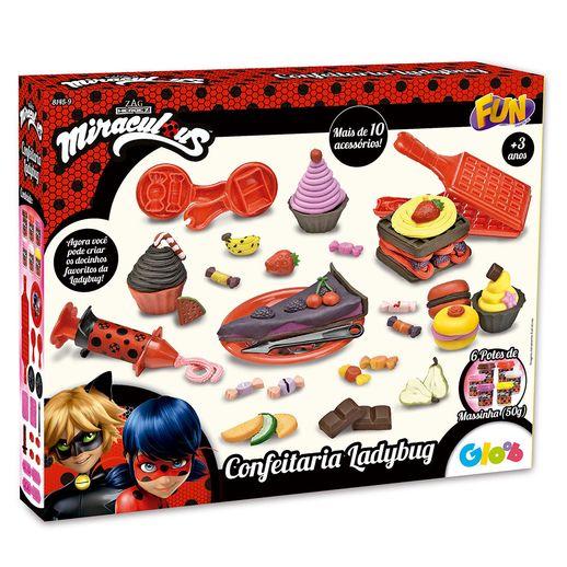 Massinha de Modelar Ladybug Confeitaria - Fun Divirta-se