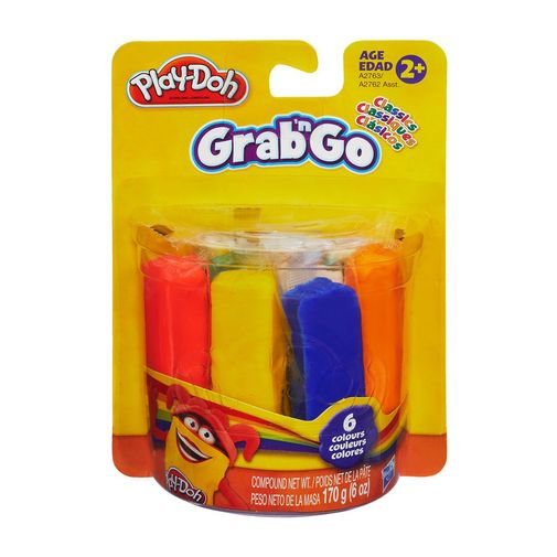 Massinha Play-Doh Grab N Go com 6 Unidades - Hasbro