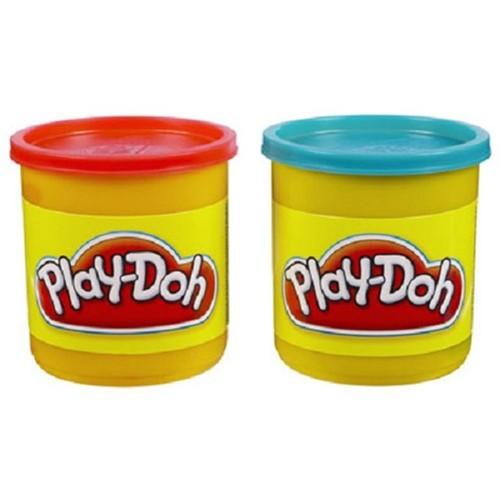 Massinha Play-Doh - Kit com 2 Potes - Vermelho e Azul 23656 - HASBRO