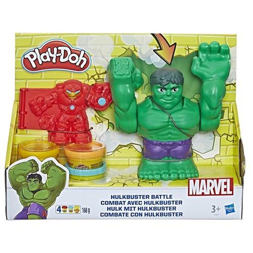 Massinha Play-Doh - Marvel Vingadores - Combate com Hulkbuster - HASBRO