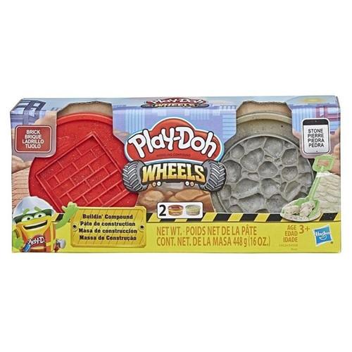 Massinha Play-Doh - Massa de Construção - Tijolo e Pedra E4524 - HASBRO