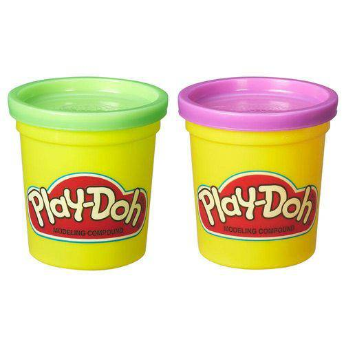Massinha Play-Doh - 2 Potes - Roxo e Verde - Hasbro