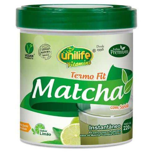Matcha - Chá Instantâneo - Termo Fit - Unilife - 220g
