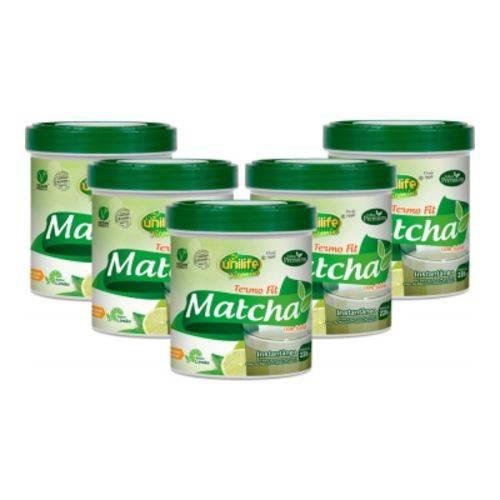 Matcha - Chá Verde - Solúvel 220g Kit com 5 Un