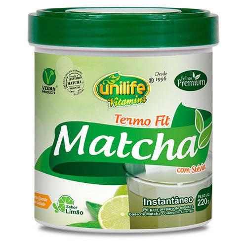 Matcha Termo Fit com Stévia Instantâneo Sabor Limão 220g Unilife