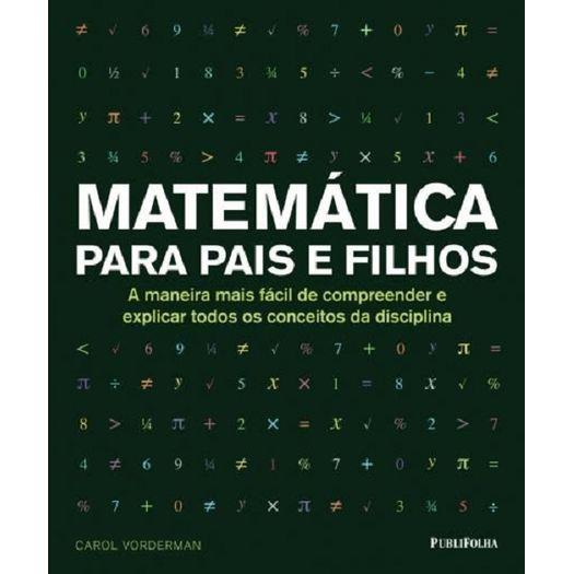 Matematica para Pais e Filhos - Publifolha