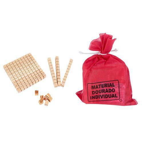 Material Dourado em Madeira com 111 Peças 1219 - Carlu