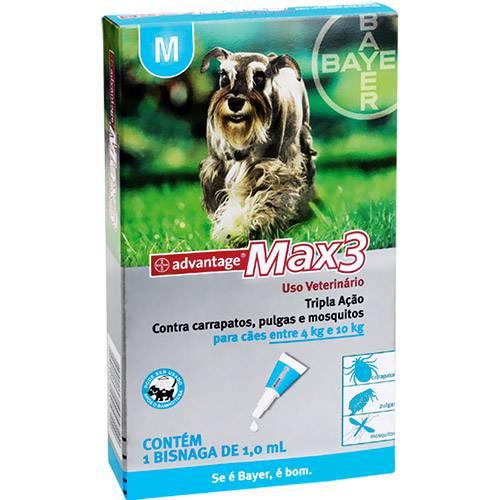 Max3 Advantage P/ Cães Entre 4 e 10kg - 1,0ml