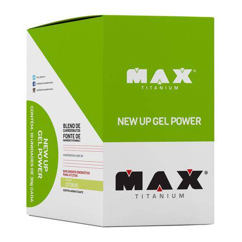 Max Titanium Display New Up Gel Power 10 Unid 30g Citrus