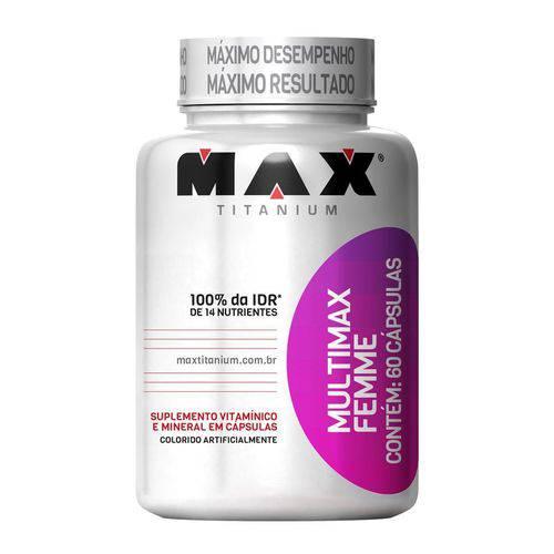 Max Titanium Multimax Femme 60 Caps