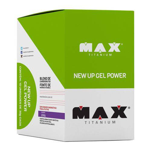 Max Titanium New Up Gel Power 10un 30g Uva