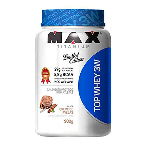 Max Titanium - Top Whey 3w 900g - Creme de Avelãs (pa.04.11.0395)