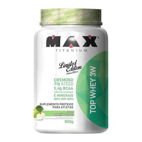 Max Titanium Top Whey 3w 900g Maça Verde