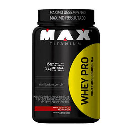 Max Titanium - Whey Pro 1kg Pote - Morango (pa.14.08.0008)