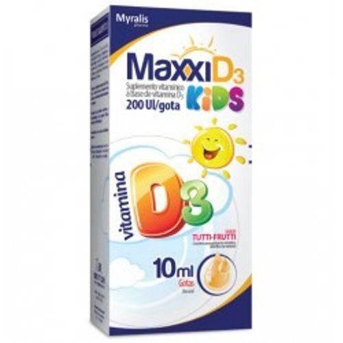 Maxxi D3 Kids - 200 Ui Gotas / 10 Ml Myralis