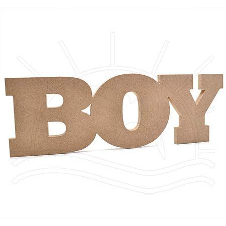 MDF Palavra - Boy 45x16x2